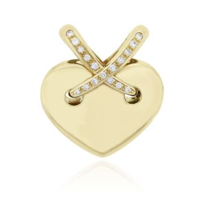 You are viewing this Chaumet Liens 18k Yellow Gold Diamond Heart Pendant!