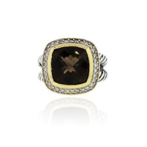 You are viewing this David Yurman Albion Diamond & Smokey Quartz Ring!