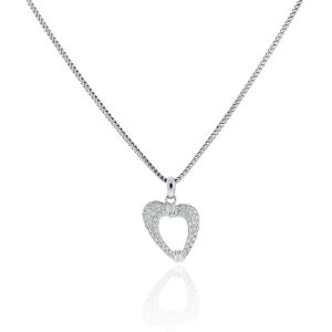 You are viewing this Di Modolo 18k White Gold Heart Pendant Necklace!