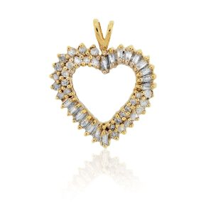 You are viewing this 10K Yellow Gold Multi Diamond Heart Pendant