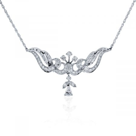 You are viewing this Platinum 1.38ctw Diamond Pendant Necklace