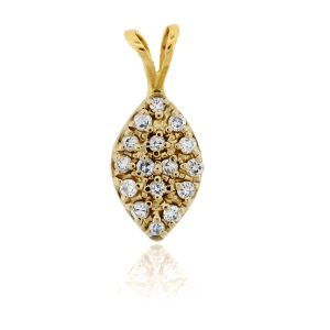 You are viewing this 10K Yellow Gold Pave Diamond Pendant