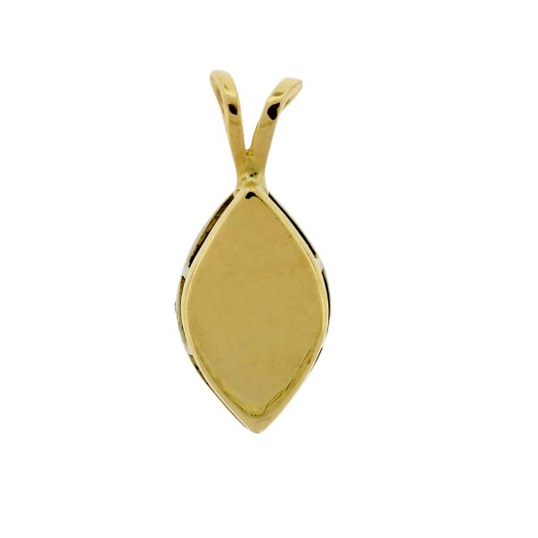 10K Yellow Gold Pave Pendant