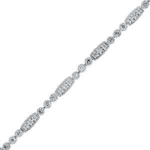 You are viewing this 14K White Gold Diamond Bezel Set Tennis Bracelet