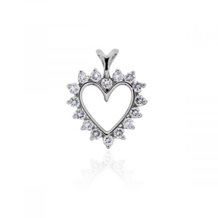 You are viewing this Platinum .50ctw Diamond Heart Pendant!