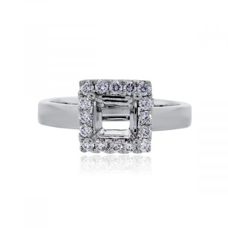 Platinum 0.75ctw Diamond Engagement Ring Mounting