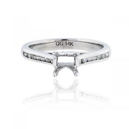 You are viewing this 14k White Gold 0.15ctw Diamond Ring Mounting!