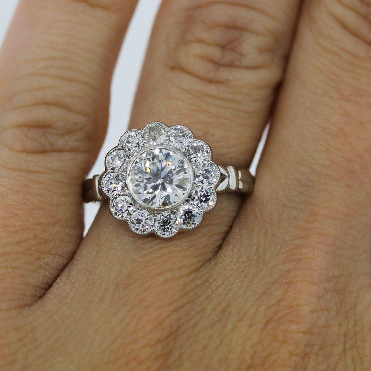 rings engagement product halo floral rose category designs jewelry wedding ring