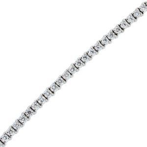 You are viewing this 14k White Gold 4.36ctw Diamond Tennis Bracelet
