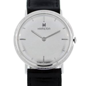 Hamilton 14k White Gold Vintage Mens Watch
