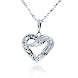 You are viewing this 14K White Gold .20ctw Diamond Heart Pendant