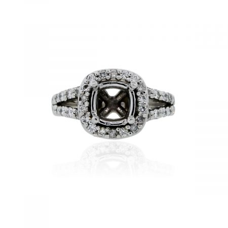 You are viewing this Jose Hess Platinum .97ctw Diamond Ring Mounting!