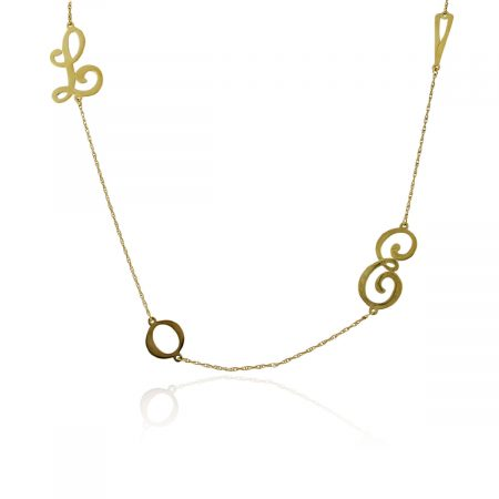 """You are viewing this Jennifer Zeuner Gold Plated """"LOVE"""" Necklace"""