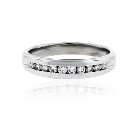 You are viewing this Mens 14k White Gold .40ctw Diamond Wedding Band!