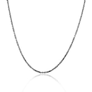 Officina Bernardi Gun Metal Snap Chain Necklace!