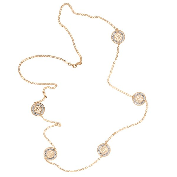 Officina Bernardi Sole Rose Gold Sterling Silver Necklace