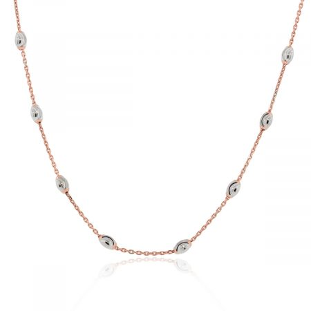 Officina Bernardi 18k Rose Gold & Platinum Necklace!