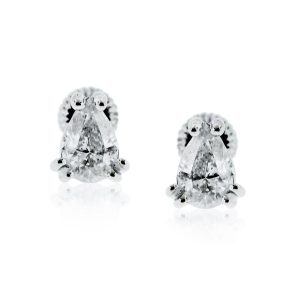 You are viewing this 14K White Gold 1ctw Pear Shaped Diamond Stud Earrings