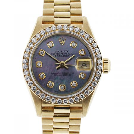 You are viewing this Rolex 6917 Datejust 18k Gold Diamond Ladies Watch!