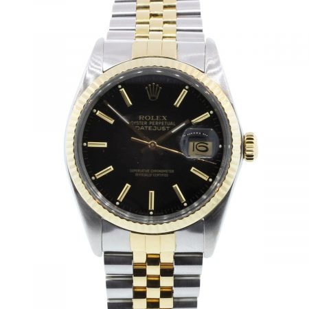 You are viewing this Rolex Datejust 16013 Black Dial Jubilee Two Tone Watch!