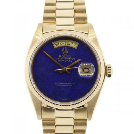 You are viewing this Rolex Day-Date 18038 18k Yellow Gold Lapis Dial Watch!