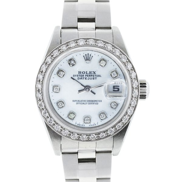You are viewing this Rolex 79174 Datejust Diamond Bezel & Dial Ladies Watch!