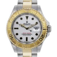 Rolex Yacht-Master 16623 Two Tone White Dial Mens Watch