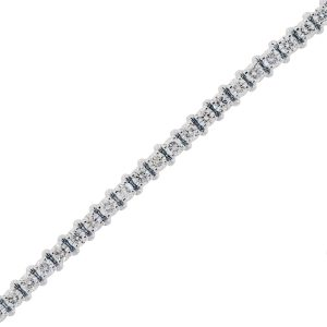 You are viewing this 14k White Gold 6.25ctw Diamond Tennis Bracelet