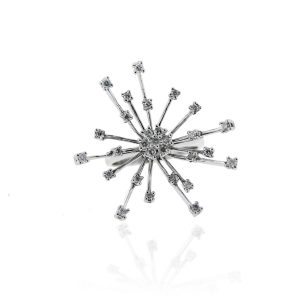 18k White Gold 0.5ctw Diamond Starburst Ring