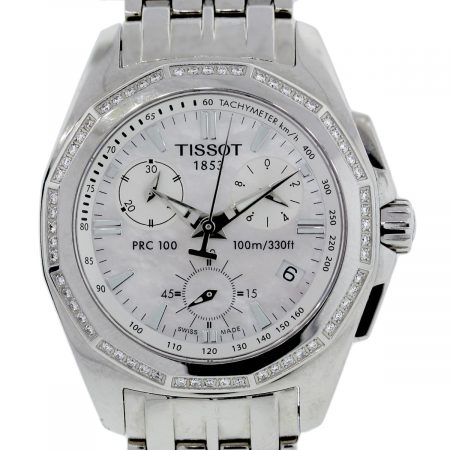 You are viewing this Tissot PRC100 Diamond Bezel Chronograph Steel Watch!