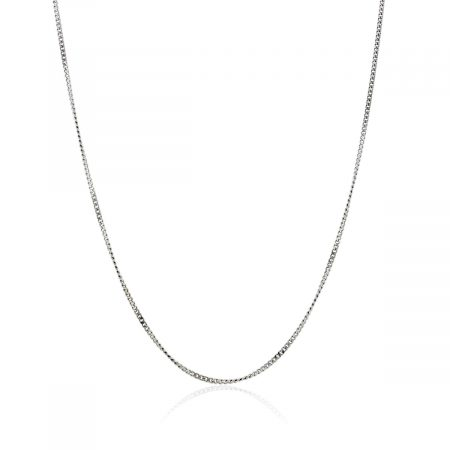 """You are viewing this 18k White Gold 16.25"""" Curb Link Chain Necklace!"""