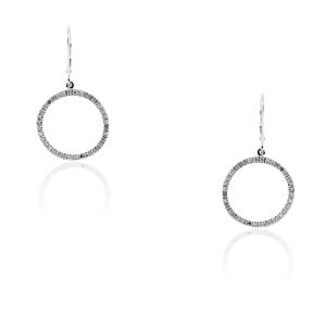 You are viewing these 10k White Gold Circle of Life .80ctw Diamond Earrings!