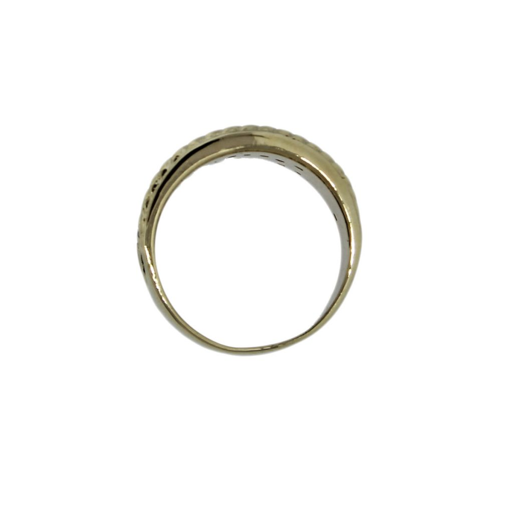 10k white yellow gold 05ctw wide ring