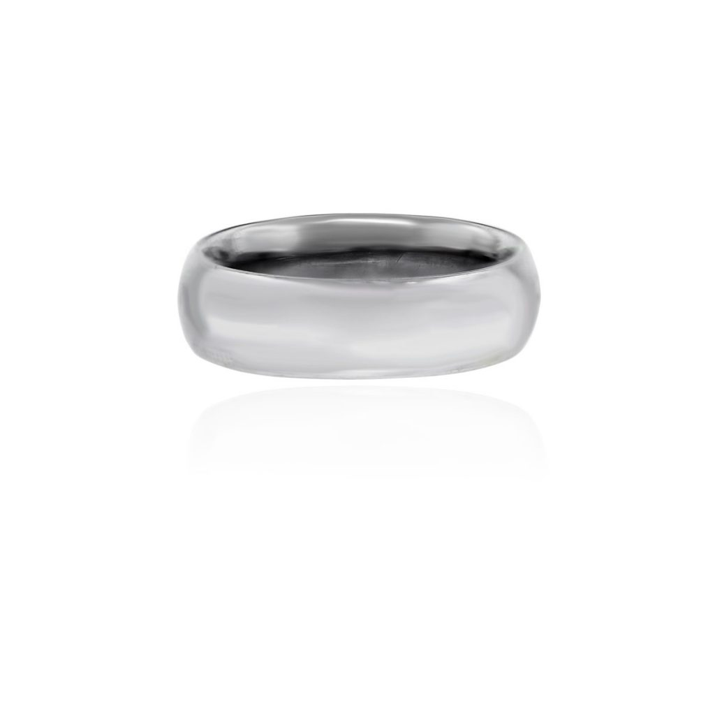 18k White Gold Mens Wedding Band