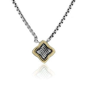 You are viewing this David Yurman Sterling Silver 18K Gold Quatrefoil Necklace