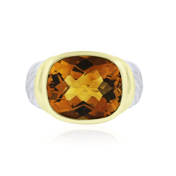 5d1ea319be9d9 David Yurman Sterling Silver 14k Yellow Gold Citrine Ring