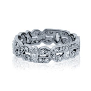 You are viewing this Platinum Round & Marquise Cut Diamond Eternity Band