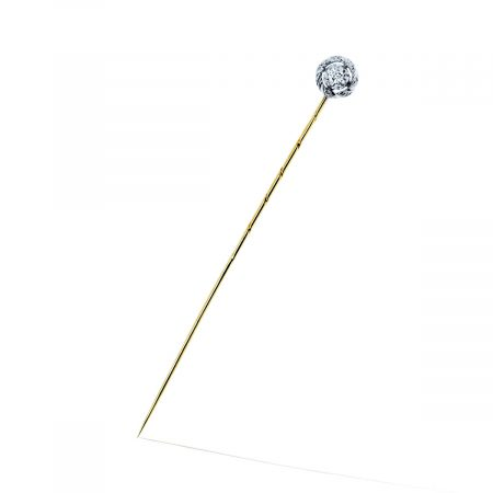 You are viewing this 14K Yellow Gold .07ctw Diamond Stick Lapel Pin
