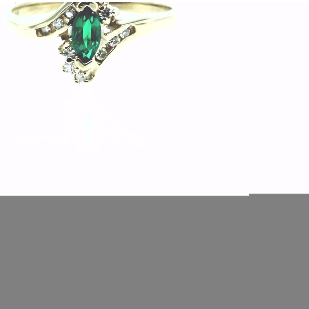 10k yellow gold marquise emerald 15ctw ring