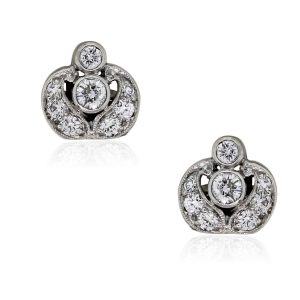 You are viewing these 14k White Gold .40ctw Diamond Stud Earrings!