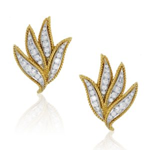 You are viewing this 18K Two-Tone 1.8ctw Diamond Earring Clips