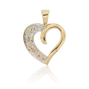 You are viewing this 14K Yellow Gold .10ctw Diamond Heart Pendant