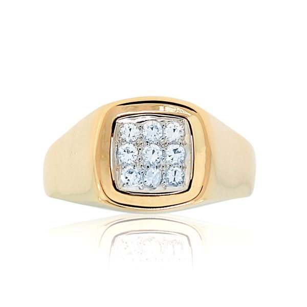 You are viewing this 14K Yellow Gold .18ctw Diamond Mens Ring