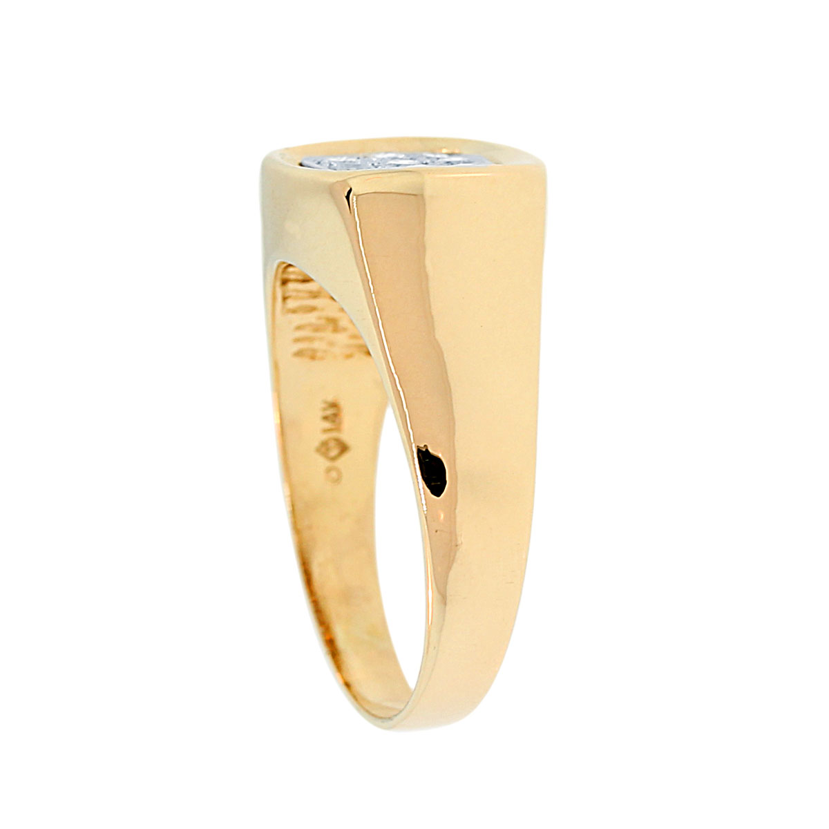 Gold .18ctw Diamond Mens Ring