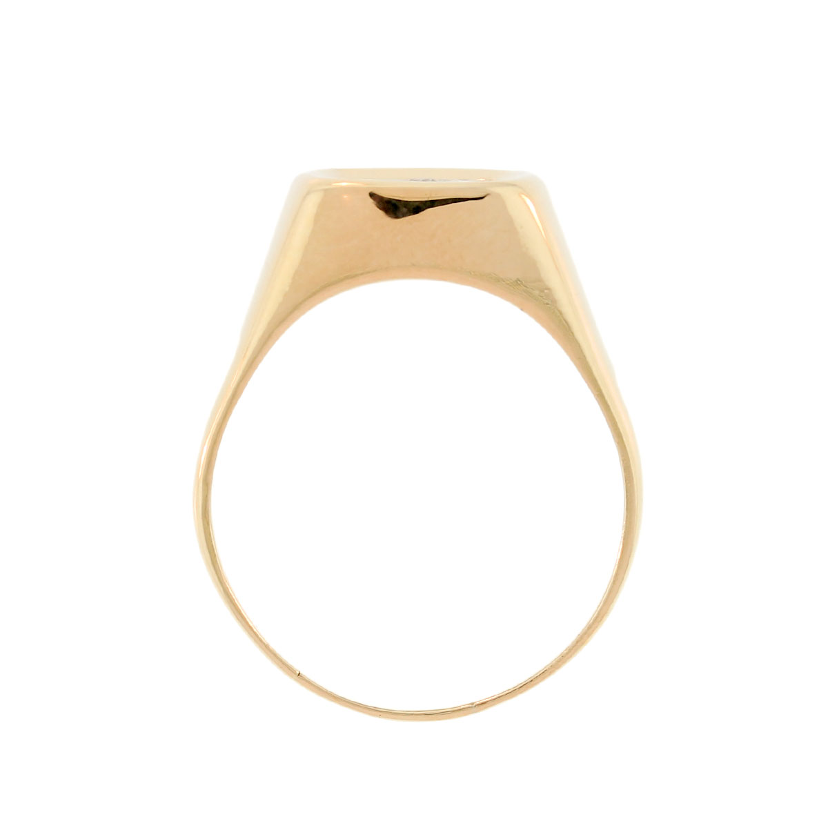 Yellow Gold .18ctw Diamond Mens Ring