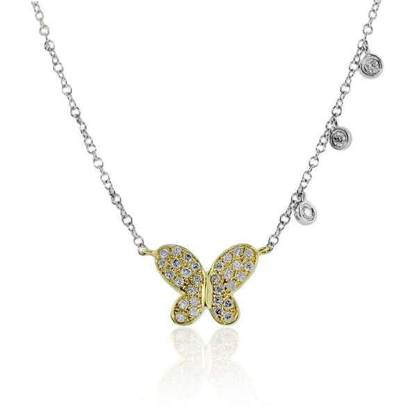 c8bb08659 Meira T 14K Two-Tone Gold Butterfly Diamond Necklace
