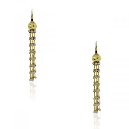 Officina Bernardi Yellow Gold & Platinum Tassel Earrings!