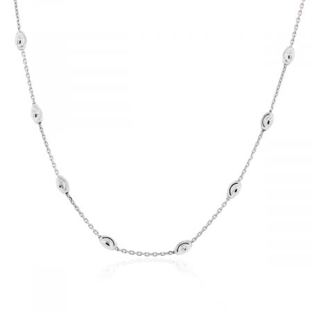 Officina Bernardi Sterling Silver & Platinum Necklace!