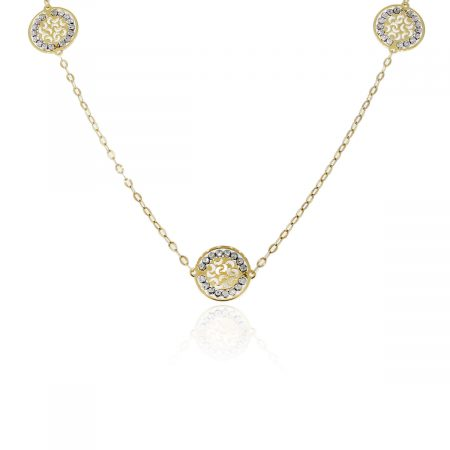 Officina Bernardi Sole Yellow Gold/Sterling Silver Necklace