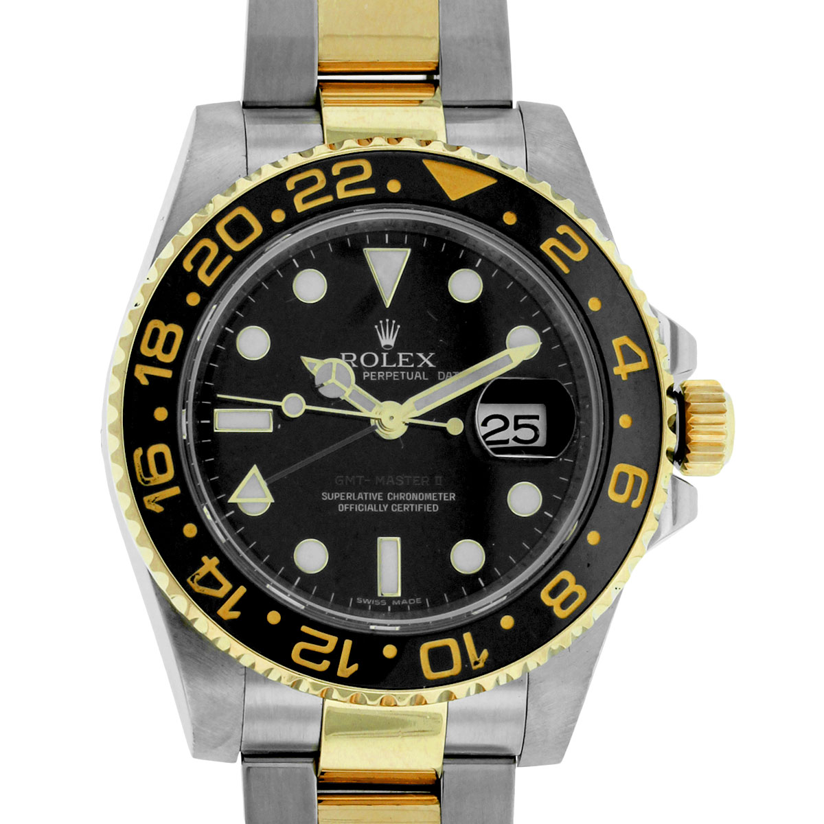 Fashion style Master gmt rolex ii two tone for lady